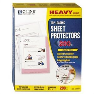Heavyweight Polypropylene Sheet Protector Clear 11 X 8 1 2 200 bx 2 Pack