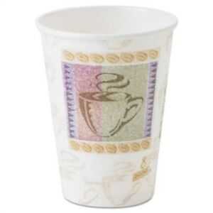 Hot Cups Paper 8oz Coffee Dreams Design 1000 carton X 2