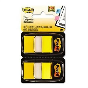 Marking Flags In Dispensers Yellow 12 50 flag Dispensers box 2 Pack