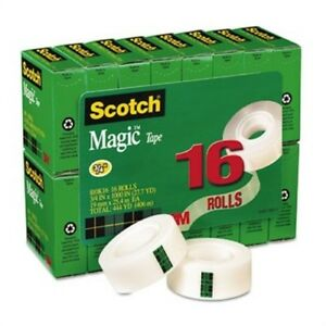 Magic Tape Value Pack 3 4 X 1000 1 Core Clear 16 pack