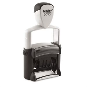 Trodat Professional Stamp Dater Self inking 1 5 8 X 3 8 Black 2 Pack