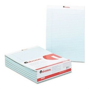 Colored Perforated Note Pads 8 1 2 X 11 Blue 50 sheet Dozen 2 Pack