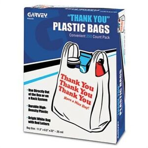 Thank You Bags Printed Plastic 5mil 11 X 22 White 250 box