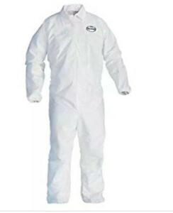 Kimberly clark Kleenguard Xl White Disposable Coveralls 24 In Case