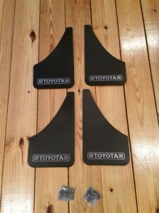 4 Toyota Splash Guards Nos Vtg Mud Flaps Old School Corolla Camry Celica Ae86