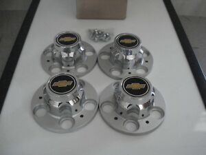 Set 4 Gm Nos 70 87 Chevrolet Truck Van Blazer Rally Wheel 5 Lug Center Caps
