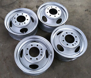 Accuride 29334 16 16x6k Dually 8 Lug Steel Wheels Set Oem Gm Chevrolet Truck