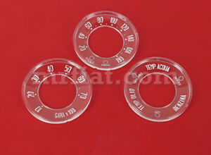 Alfa Romeo Giulia Giulietta Spider 750 101 Dashboard Gauge Lens Set New