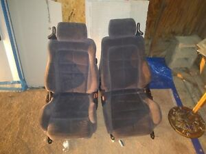 Mitsubishi 3000gt Dodge Stealth Bucket Seats Pair Grey Velour Great Condition