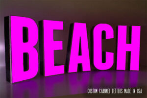 Custom Illuminated Led Channel Letters Set Outdoor Signage 14 Italic Font
