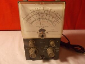 Vintage Heathkit Vtvm Vacuum Tube Voltmeter Model V7a By Weston U s a
