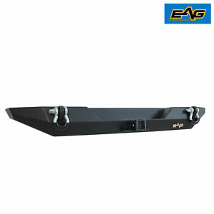 Eag 1987 2006 Jeep Wrangler Tj Yj Rear Bumper With D ring Shackle Black Textured