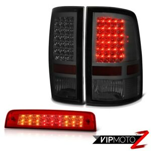 2010 2018 Ram 2500 Slt Red Roof Brake Light Smoked Tail Lights Led High Power