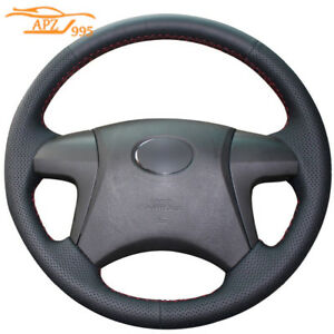 Leather Car Steering Wheel Cover For Toyota Highlander 2009 14 Camry 2007 11 17