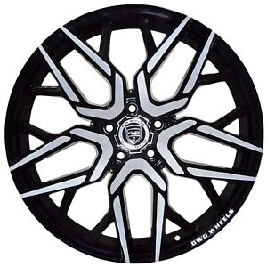 4 Gwg Nigma 20 Inch Black Machined Rims Fits Honda Civic Sedan 2012 2015