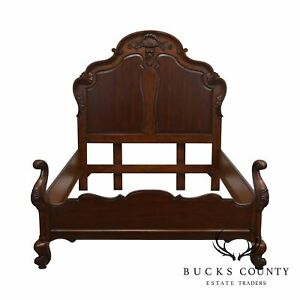 Hekman French Carved Cherry Queen Bed