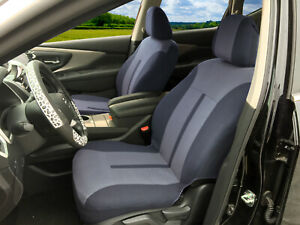 Universal Pair 2 Front Auto Car Seat Covers Fit For Honda 2 Tone Gray