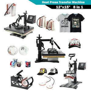 8 In 1 Digital Transfer Heat Press Machine Sublimation For T shirt Cup Printing