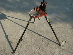 Ridgid Model No 40 Tri Stand Pipe Vice Threading Plumbing Holding Clamp