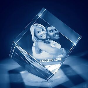 Christmas Laser Engraved 3d Crystal Love Gift Large Diamond Shape