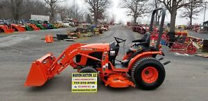 2016 Kubota B2301 Compact Loader Tractor With Mower Only 37 Hrs Warranty