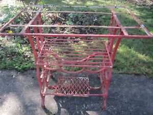 Antique Sewing Machine Cast Iron Base Stand New Royal Make Into A Side Table