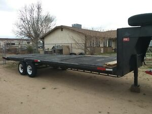 25 Gooseneck Trailer And Ramps 12000 Gvw Used Wood Deck