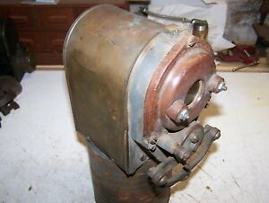 Old Kw Model T Ihc Titan Tractor Avery Magneto Two Cylinder Hit Miss Engine Hot