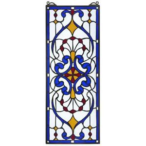 22 5 Victorian Carriage Tiffany Style Authentic Stained Glass Window Panel