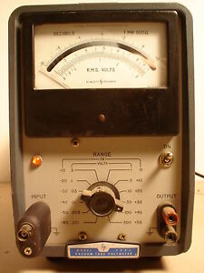 Vintage Industrial Hp Model 400l Vacuum Tube Voltmeter