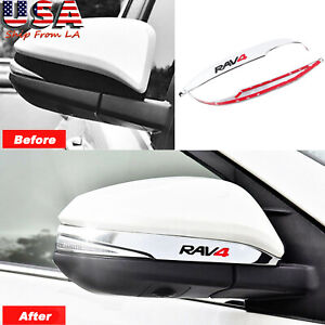 For Toyota Rav4 2014up Chrome Car Door Rearview Mirror Decor Side Mirror Trim