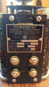 Superior S639 Powerstat Variable Transformer 15a Input 115v Tx060
