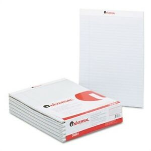 Colored Perforated Note Pads 8 1 2 X 11 Gray 50 sheet Dozen 2 Pack