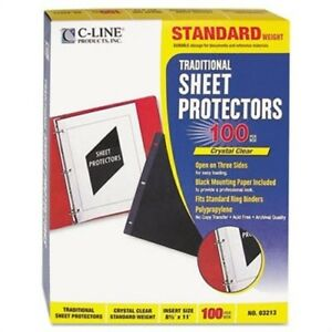 Traditional Polypropylene Sheet Protector Standard Weight 11 X 8 1 2 100 bx