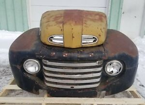 1948 1950 Ford F2 F 2 Pickup Front Clip Fenders Grill Hood Shipping Included