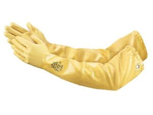 12 Pack Atlas 772 Xl Chemical Resistant Nitrile Gloves 26 Inch Shoulder Length
