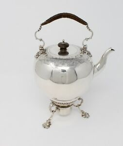 Sterling Silver English Teapot Kettle Stand 1750 By Fred Kandler