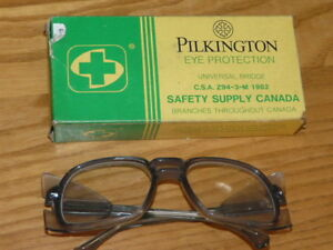 Vtg Pilkington Safety Glasses Goggles Eye Protection Steampunk Car Motorcycle