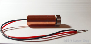 1 8w 445nm Blue Laser Diode In 12mmx30mm Copper Module W leads