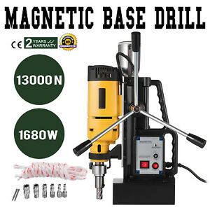 Magnetic Drill Press Md50 W 7 Pcs Hss Cutter Bits 2 Boring1680w Force Reaming