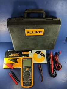 Fluke 1587 Insulation Multimeter Excellent Hard Case Accessories