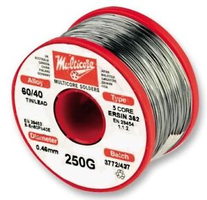 Multicore solder Solder 60 40 Hi act 0 7mm 250g