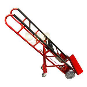 Portable 4 Wheels Hand Truck Dolly Appliances Mobile Moving Cart Lift Carrier