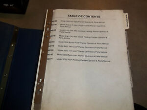 Kinze Planters Operators And Parts Manuals see First Picture 3000 Thru 3700