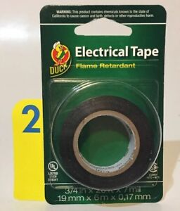 Duck Brand Black Electrical Tape 0 75 inch X 20 feet Single Roll Id Mouthymo