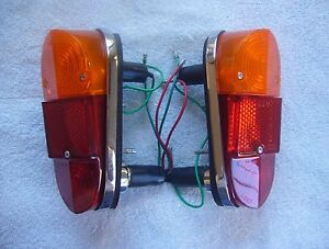 Lucas L647 Rear Tail Lamps For Classic Mini Cooper Mk1 And Mga 1600 Mk2 pair
