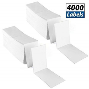 4x6 Fanfold Direct Thermal Labels 2 Stacks 4000 Labels Total Mailing Address