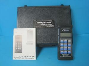 Omega Cl25 Calibrator Thermocouple With Case Used 30 Day Guarantee