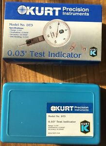 Kurt 0 03 Test Dial Indicator Model Dt3 0 0005 7 Jewels New Never Used