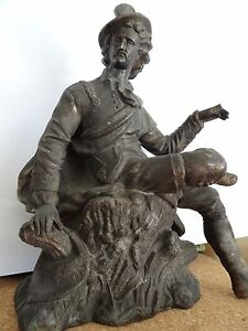 Metal Statue Only From A New Haven Clock Company Mantel Clock Figural 1900 S